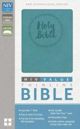 NIV Value Thinline Bible--soft leather-look, turquoise
