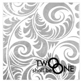 Two Shall Be One Napkins, Pack of 20