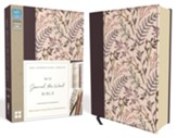 NIV Journal the Word Bible--clothbound hardcover, pink floral - Slightly Imperfect