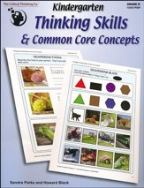 Kindergarten Thinking Skills & Common Core Concepts
