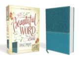 NKJV Beautiful Word Large-Print  Bible--soft leather-look, turquoise