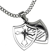Man of God Pursue Shield Cross Necklace