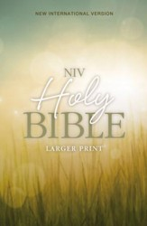 NIVLarger Print Holy Bible--softcover with nature design