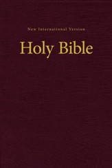 NIV Value Pew and Worship Bible--hardcover, burgundy