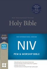NIV Pew and Worship Bible--hardcover, blue