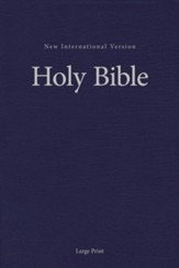 NIV Large-Print Pew and Worship Bible--hardcover, blue - Slightly Imperfect