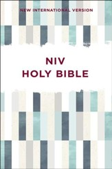 NIV Outreach Bible--softcover, green pattern
