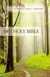 NIV Value Outreach Bible--softcover, green forest path