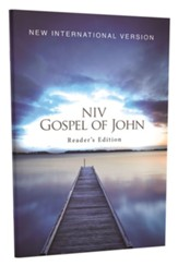 NIV Gospel of John, Reader's Edition--softcover, blue pier