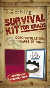 NIV 2017 Survival Kit for Grads, Girls' Edition, Burgundy