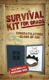 NKJV 2017 Survival Kit for Grads, Guys' Edition, Blue  - Imperfectly Imprinted Bibles