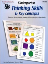 Kindergarten Thinking Skills & Key  Concepts