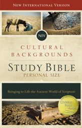 NIV, Cultural Backgrounds Study Bible, Personal Size, Hardcover