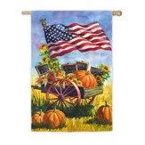 Patriotic Farm Wagon Flag, Large