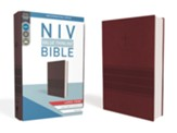 NIV Value Thinline Bible Large Print Burgundy Imitation Leather