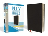 NIV Thinline Bible Giant Print Black Bonded Leather, Indexed