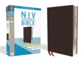 NIV Thinline Bible Giant Print Burgundy Bonded Leather, Indexed - Imperfectly Imprinted Bibles