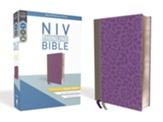 NIV Thinline Bible Giant Print Gray and Purple Imitation Leather