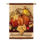 Pumpkin Harvest Suede Flag, Large