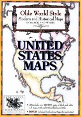 Olde World Style United States Maps on CD-ROM