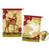 Peace On Earth Reindeer & Dove Flag, Large