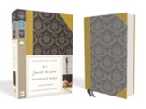 NIV, Journal the Word Reference Bible--soft leather-look, gold/gray