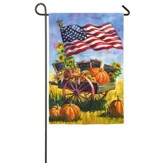 Patriotic Farm Wagon Flag, Small