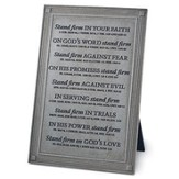 Stand Firm Plaque