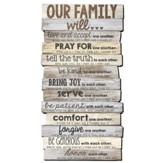 Our Family Will Love   Wall Art Sign