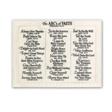 The ABC's Of Faith, Large Plaque