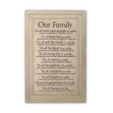 Our Family, Large Plaque