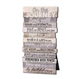 Journey, Stacked Words Plaque, Small