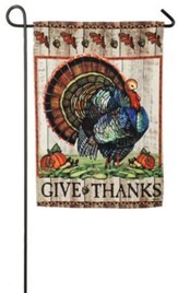 Give Thanks Turkey Flag, Small