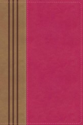 NIV Comfort Print Biblical Theology Study Bible, Imitation Leather, Pink and Brown, Indexed