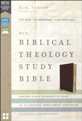 NIV Biblical Theology Study Bible, Bonded Leather, Burgundy, Comfort Print - Slightly Imperfect