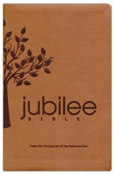 Jubilee Bible: From the Scriptures of the Reformation--soft leather-look, brown with tree design