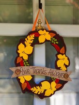 Give Thanks Always, Door Decor Hanger