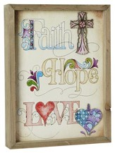 Faith Hope Love Framed Art