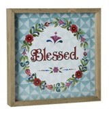 Blessed, Jim Shore Framed Print