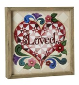 Loved, Jim Shore Framed Print