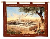 Dove and Temple Tapestry Banner