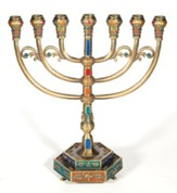 7 Branch Pewter Menorah, Large
