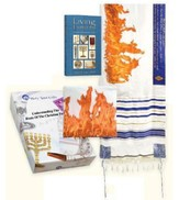Flame of Pentecost Gift Box Set Tallit Tallit Bag Living Emblems Book