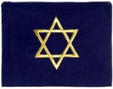 Star of David Tallit Bag, Blue Velvet