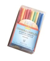 Hanukkah Candles 4 for Menorahs, Multi-colored, Box of 45 Blue and White Mix Box of 45