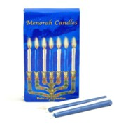 Blue and White Hanukkah Candles; 25