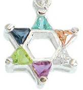 Star of David Necklace, Zirconia