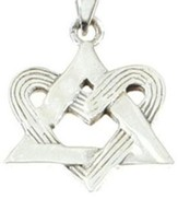 Entwined Heart Star of David Pendant
