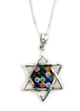 Breastplate Star of David Zirconia Necklace
