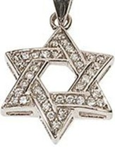 Star of David w/Crystal Trim Necklace